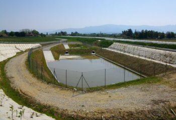 Bassin rétention eaux pluie pluviales gestion débit de fuite pompe